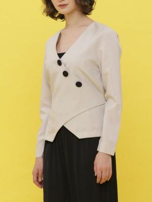Asymetric Button-Up Blazer