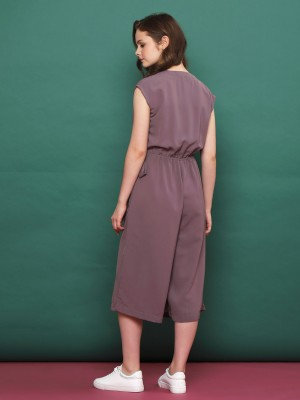 Wrap Side-Tie Sleeveless Long Dress