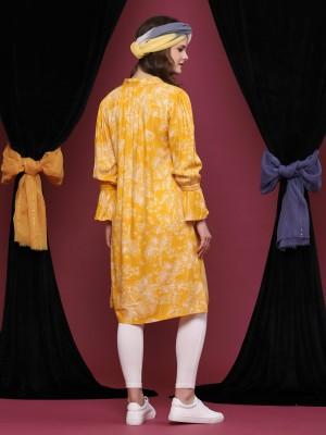 Printed Long Sleeveless Dress
