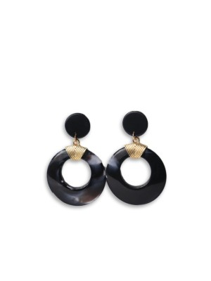 Ceramic Round Tangling Earrings