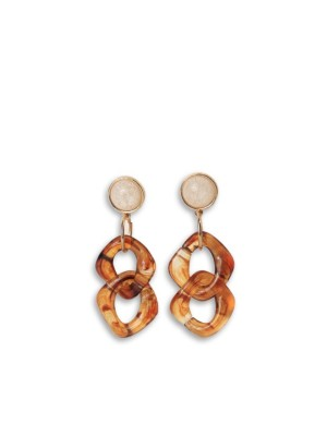 Squared Ceramic Tangle Earrings