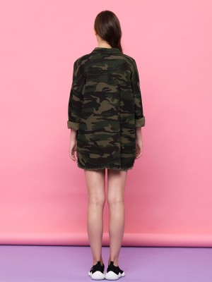 YOUTH Army Print Unfinished Outer