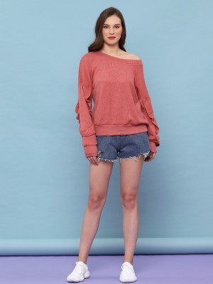 YOUTH Ruffles Sleeves Sweater
