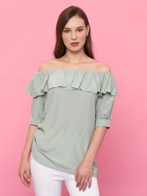 Off shoulder Ruffles Neckline Top