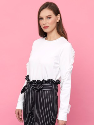 Youth Ruffles Semi Crop Tee