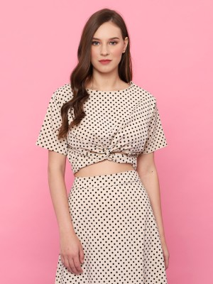 2Pcs Dotty Crop W/Skirt