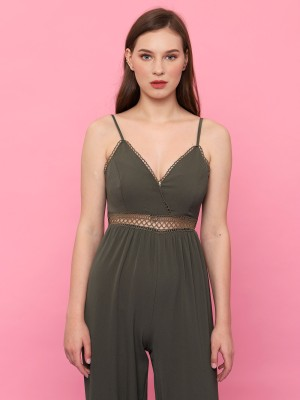 Waist See Thru Summer Jumpsuit