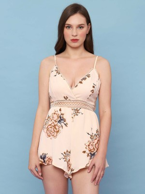 Printed summer playsuit