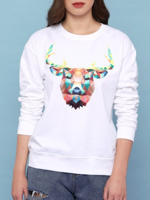 Abstract Deer Sweater