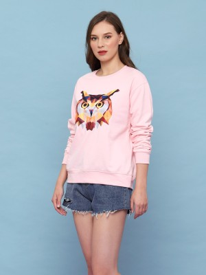 Abstract Owl Sweater