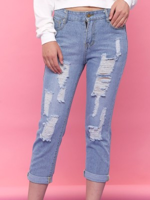 Ripped Light Denim
