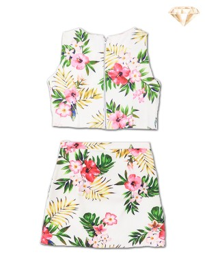 2-Pieces Set Summer Flower Top & Short