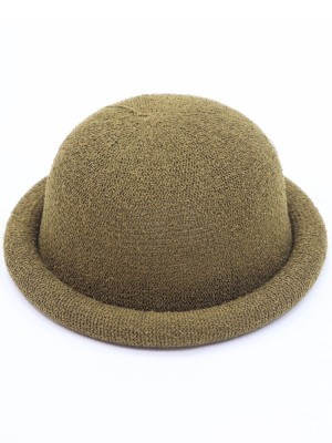 Knitted Folded Round Hat