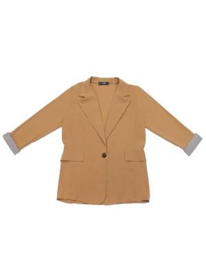 Folded Cuffed Oversize Blazer