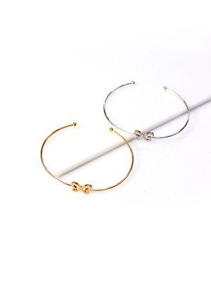 Diamante Bow Super Thin Bangle