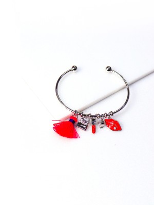 Lipstick Purse Charm Bangle