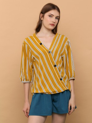 V Neck Rd Stripes Top