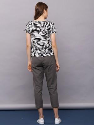 Zebra Stripes Print Tee