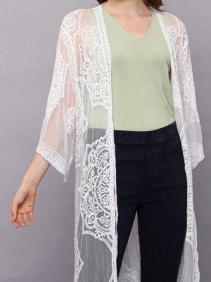 Lace Embroidered Outerwear