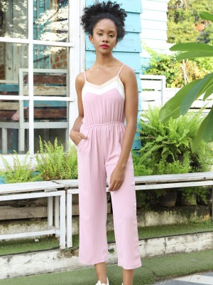 Neckline 3 Tone Layer Jumpsuit