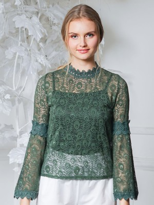 Wide Sleeves Lace Top