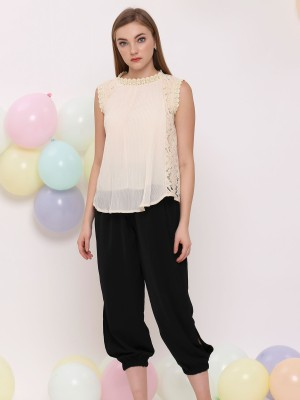 Lace Mini Pleat Combi Top