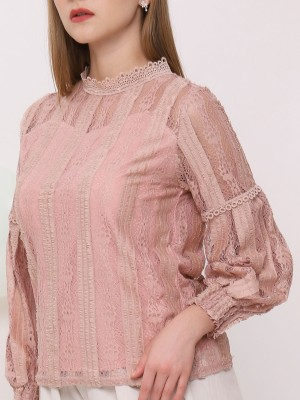 Flare Sleeves Lacey Top