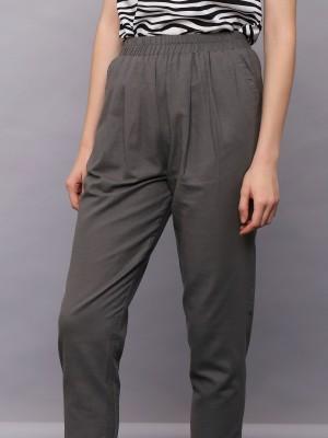 Elastic Waist Slim Pants