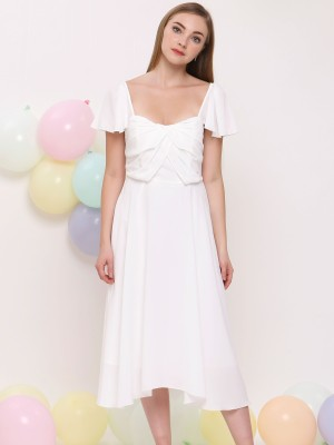 Anne Chiffon Flare Dress