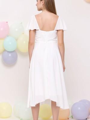 Anne Chiffon Flare Dress