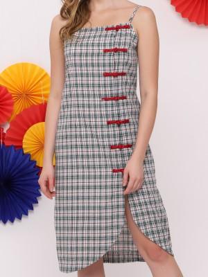 FC Checkered Oriental Mini Dress