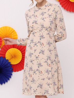 FC Flower Print High Neck Dress