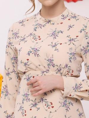 FC Flower Print High Neck Dress
