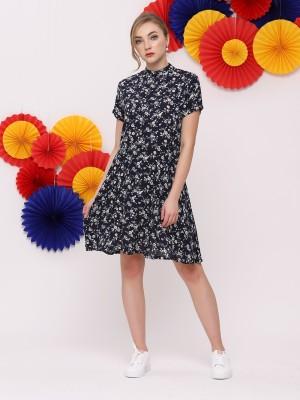 FC Flower Print Waist Fit Mini Dress