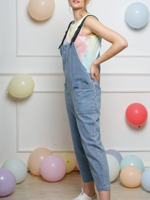 PT Bag Strap Denim Jumpsuit