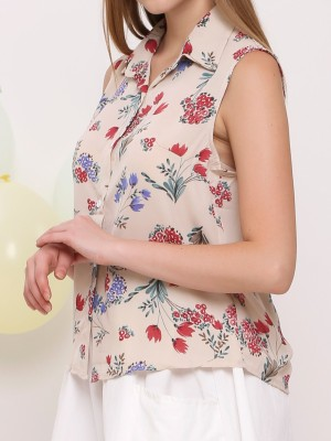 Bunch Flower Print Shirt