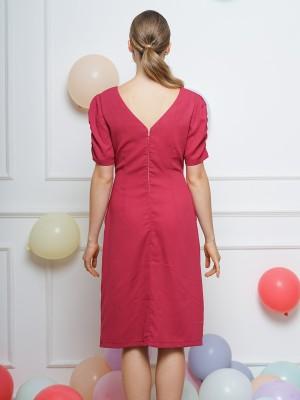 FC Middle Twist V Neck Dress