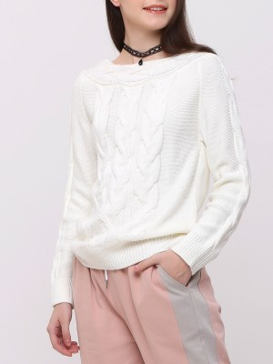 Off Shoulder Knitted Top