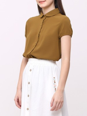 Elastic Sleeves Shirt