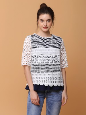 PT Full Embroidered Double Layer Top