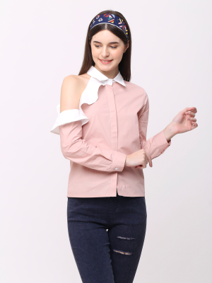 Side Ruffles Shirt
