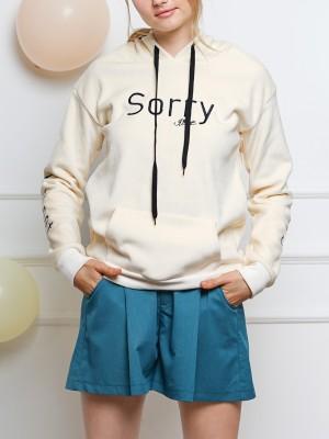 PT SORRY Fur Hoodie Sweater