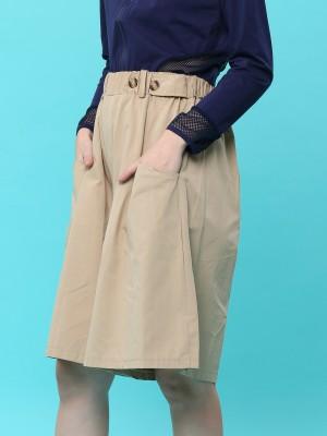 Elastic Waist Tencel Short