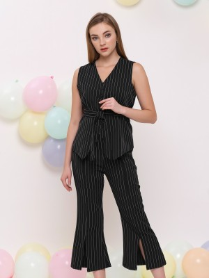 2 pcs set stripe vest and pants