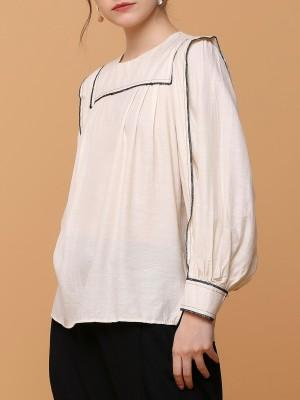 sailor flap collar balck outline top