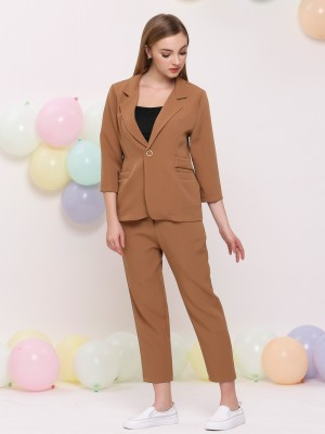 2 Set One Side Double Deck Pocket Blazer w/h Pants