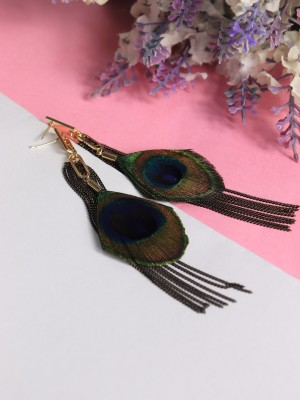 GGW Peacock Feather Tangled Earrings