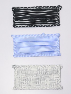 3pcs Reusable Face Mask With Insert-able Pocket Set (Lace)