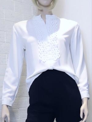 Round Crochet Long Sleeves Shirt