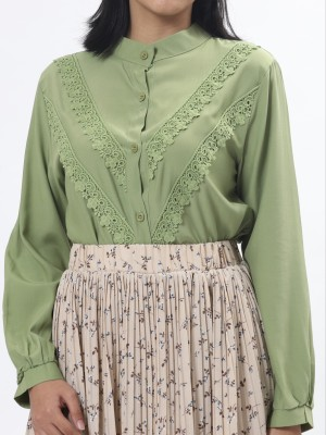 D-Sl Leb Double V Embroidered Shirt